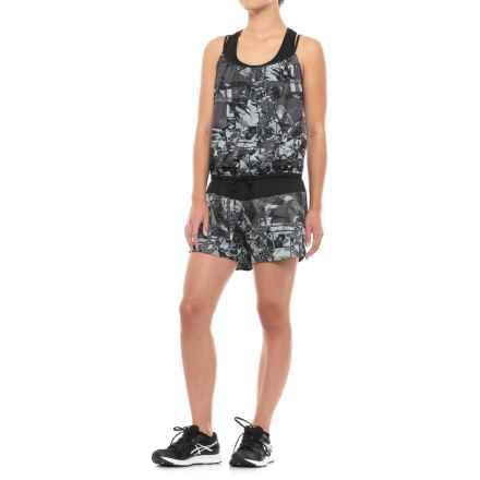 The North Face Runagade Romper - Sleeveless (For Women) in Tnf Black Reflective Print - Closeouts