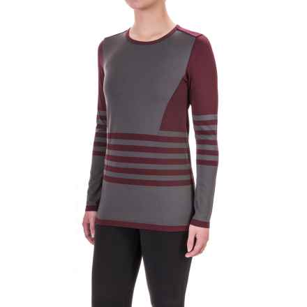The North Face Second Skin Shirt - Long Sleeve (For Women) in Deep Garnet Red/Graphite Grey - Closeouts