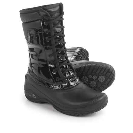 The North Face Shellista 2 Mid Luxe PrimaLoft® Pac Boots - Waterproof, Insulated (For Women) in Tnf Black/Graphite Grey - Closeouts