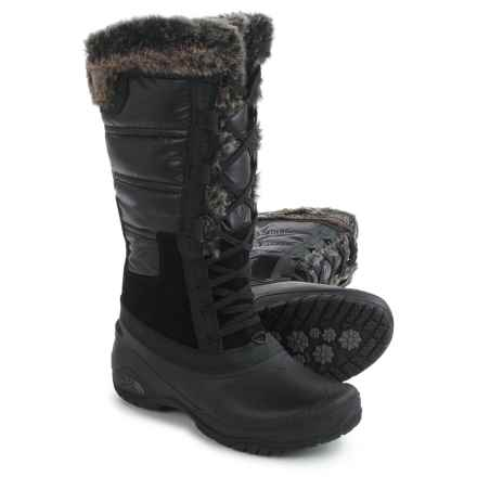 The North Face Shellista 2 Tall Pac Boots - Waterproof, Insulated (For Women) in Tnf Black/Plum Kiten Grey - Closeouts