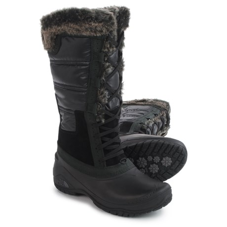 The North Face Shellista 2 Tall Pac Boots - Waterproof, Insulated (For Women) in Tnf Black/Plum Kiten Grey