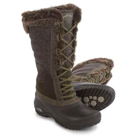 The North Face Shellista 2 Tall Pac Boots - Waterproof, Insulated (For Women) in Weimaraner Brown/Dove Grey - Closeouts