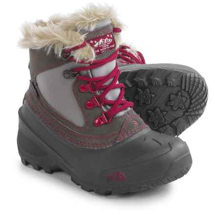 The North Face Shellista Extreme Snow Boots - Waterproof, Insulated (For Little and Big Kids) in Dark Gull Grey/Cerise Pink - Closeouts