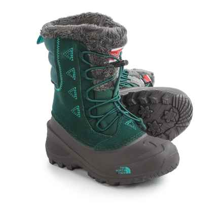 The North Face Shellista Lace II Snow Boots - Waterproof, Insulated (For Little and Big Girls) in Botanical Garden Green/Ion Blue - Closeouts
