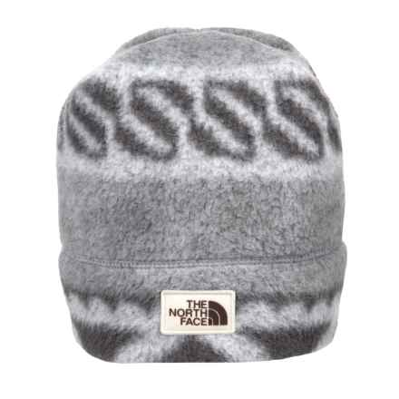 The North Face Sherpa Beanie - Reversible (For Women) in Monument Grey Woolen Print - Closeouts