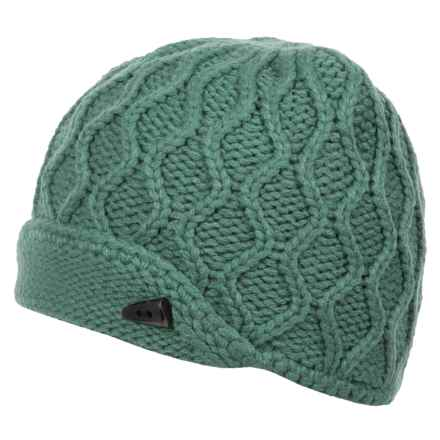 The North Face Side Cable-Knit Beanie (For Women) in Deep Sea - Closeouts