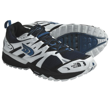 The North Face Single-Track Running Shoes (For Men) in White/Voyage Blue