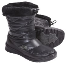 The North Face Skylla WP Winter Boots - Waterproof (For Women) in Shiny Black/Black - Closeouts