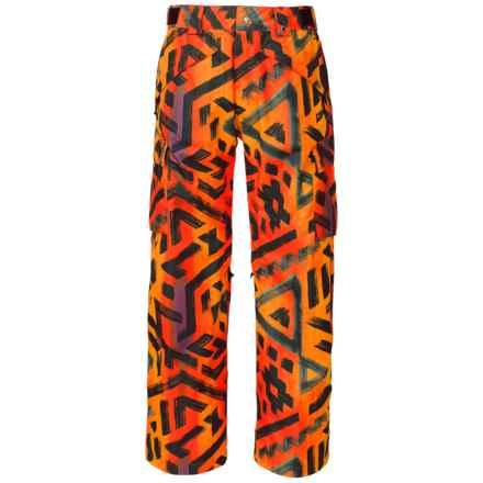 The North Face Slasher Cargo Ski Pants - Waterproof (For Men) in Acrylic Orange Shaka Print - Closeouts