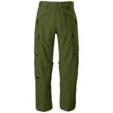 The North Face Slasher Cargo Ski Pants - Waterproof (For Men) in Scallion Green - Closeouts
