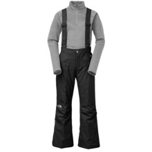 The North Face Snowquest Suspender Ski Pants - Insulated (For Little and Big Girls) in Black - Closeouts