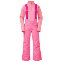 The North Face Snowquest Suspender Ski Pants - Insulated (For Little and Big Girls) in Gem Pink - Closeouts