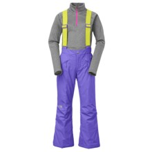 The North Face Snowquest Suspender Ski Pants - Insulated (For Little and Big Girls) in Starry Purple - Closeouts