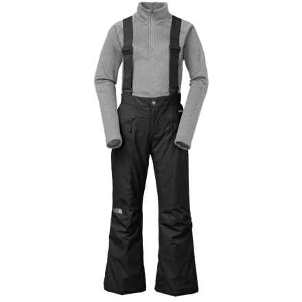 The North Face Snowquest Suspender Snow Pants - Insulated (For Little and Big Kids) in Black - Closeouts