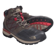 The North Face Snowsquall Mid Winter Boots - Waterproof (For Men) in Demitasse Brown/Fiery Red - Closeouts