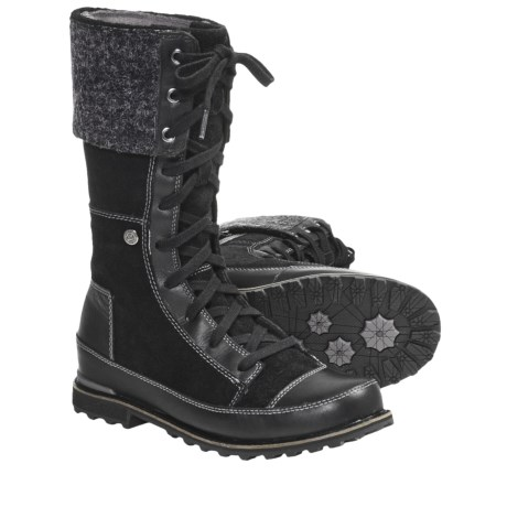 The North Face Snowtropolis Boots - Insulated (For Women) in Tnf Black/Tnf Black