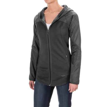 The North Face Spark Hoodie - Zip Front (For Women) in Tnf Dark Grey Heather/Tnf Black - Closeouts
