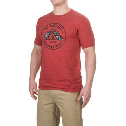 The North Face Specialist Tri-Blend T-Shirt - Short Sleeve (For Men) in Tnf Red Dark Heather(Std) - Closeouts