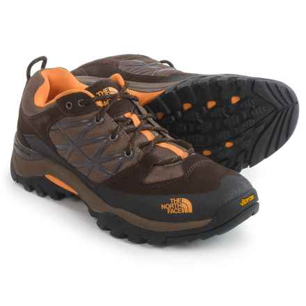 The North Face Storm Hiking Shoes (For Men) in Demitasse Brown/Brushfire Orange - Closeouts