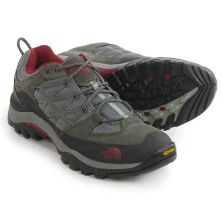 The North Face Storm Hiking Shoes (For Men) in Graphite Grey/Biking Red - Closeouts