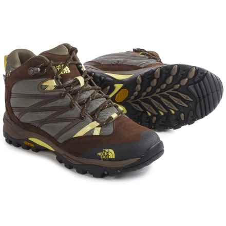 The North Face Storm II Mid WP Hiking Boots - Waterproof (For Women) in Shroom Brown/Chiffon Yellow - Closeouts