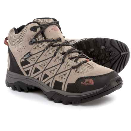The North Face Storm III Mid Hiking Boots - Waterproof (For Men) in Dune Beige/Arabian Spice - Closeouts