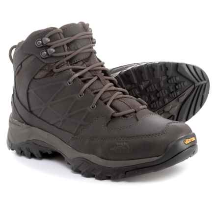 The North Face Storm Mid Hiking Boots - Waterproof, Leather (For Men) in Coffee Brown/Coffee Brown - Closeouts