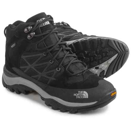 The North Face Storm Mid WP Hiking Boots - Waterproof (For Men) in Tnf Black/Griffin Grey - Closeouts