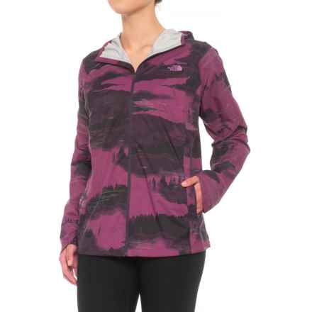 The North Face Stormy Trail Jacket - Waterproof (For Women) in Amaranth Purple Reflective Fog Print - Closeouts