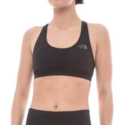 The North Face Stow-N-Go IV Racerback Sports Bra - High Impact (For Women) in Tnf Black - Closeouts