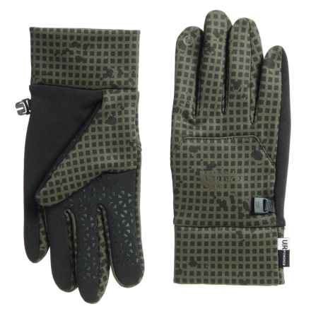 The North Face Stretch-Knit Etip® Gloves - Touchscreen Compatible (For Men) in New Taupe Green Nightmoves Camo - Closeouts