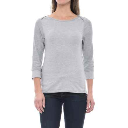 The North Face Sunblocker Shirt - UPF 30, 3/4 Sleeve (For Women) in Tnf Light Grey Heather - Closeouts