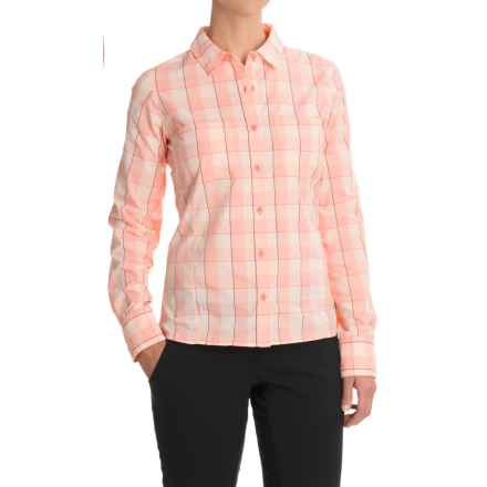 The North Face Sunblocker Shirt - UPF 50, Long Sleeve (For Women) in Burnt Coral Plaid - Closeouts