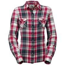 The North Face Suncrest Shirt - Flannel, Long Sleeve (For Women) in Sisley Blue - Closeouts