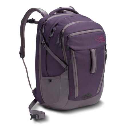 The North Face Surge Backpack - 31L (For Women) in Dark Eggplant Purple Dark Heather/Rabbit Grey - Closeouts