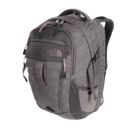 The North Face Surge Backpack (For Women) in Asphalt Grey Heather/Quail Gray - Closeouts