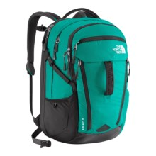 The North Face Surge Backpack (For Women) in Kokomo Green/Asphalt Grey - Closeouts
