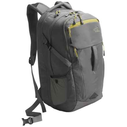 The North Face Surge Backpack in Fusebox Grey/Lemongrass Green - Closeouts