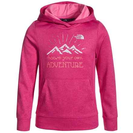 The North Face Surgent Fleece Logo Hoodie (For Little and Big Girls) in Cabaret Pink Heather - Closeouts