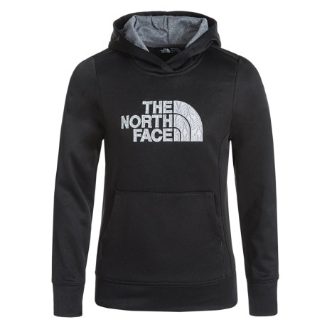 The North Face Surgent Fleece Logo Hoodie (For Little and Big Girls) in Tnf Black/Tnf Medium Grey Heather