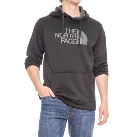 The North Face Surgent Half Dome Hoodie (For Men) in Black/Ashpalt Heather Grey - Closeouts