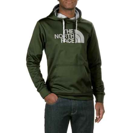 The North Face Surgent Half Dome Hoodie (For Men) in Rosin Green/Mid Grey - Closeouts