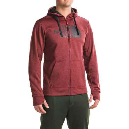 The North Face Surgent Half Dome Hoodie - Zip Front (For Men) in Biking Red Heather/Tnf Black - Closeouts