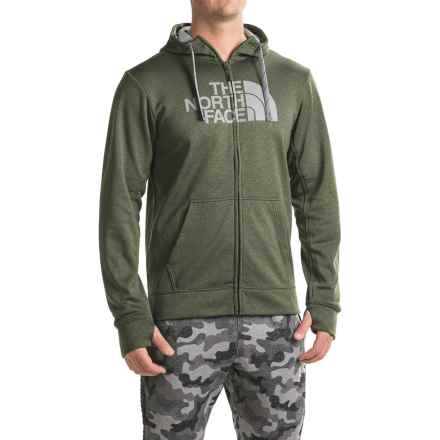 The North Face Surgent Half Dome Hoodie - Zip Front (For Men) in Climbing Ivy Green Heather (Std)/Mid Grey - Closeouts