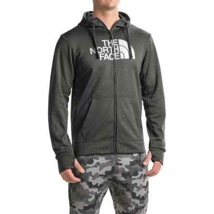 The North Face Surgent Half Dome Hoodie - Zip Front (For Men) in Tnf Dark Grey Heather (Std)/Tnf Black - Closeouts