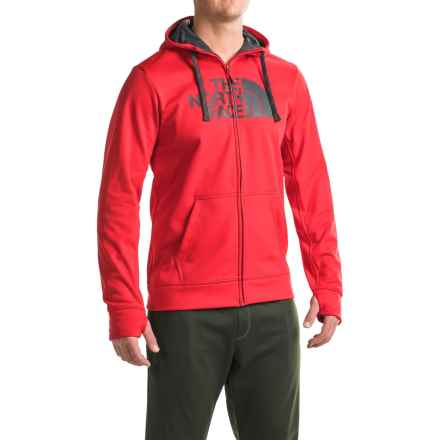The North Face Surgent Half Dome Hoodie - Zip Front (For Men) in Tnf Red/Asphalt - Closeouts