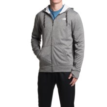 The North Face Surgent Hoodie - Full Zip (For Men) in Heather Grey/Tnf White - Closeouts