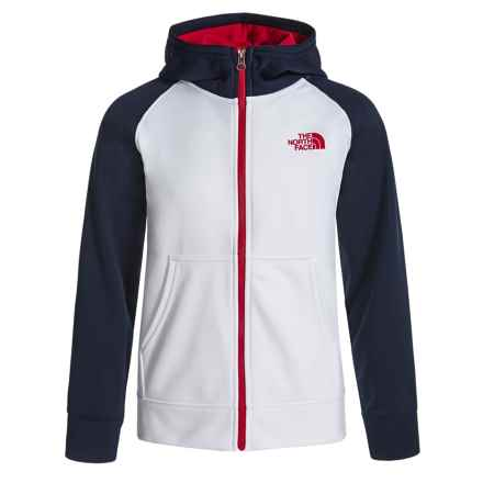 The North Face Surgent Hoodie - UPF 50 (For Little and Big Boys) in Tnf White - Closeouts