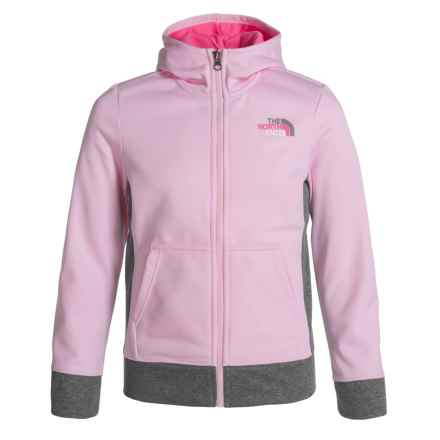 The North Face Surgent Hoodie - UPF 50+, Zip Front (For Little and Big Girls) in Coy Pink - Closeouts