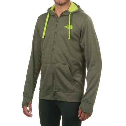 The North Face Surgent LFC Hoodie - Full Zip (For Men) in Climbing Ivy Green Dark Heather (Std)/Chive Green - Closeouts